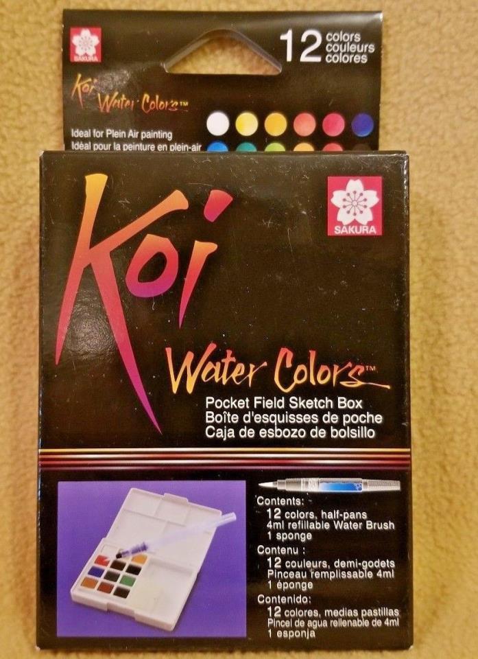 Sakura Koi Water Colors 12 FREE SHIPPING NEW