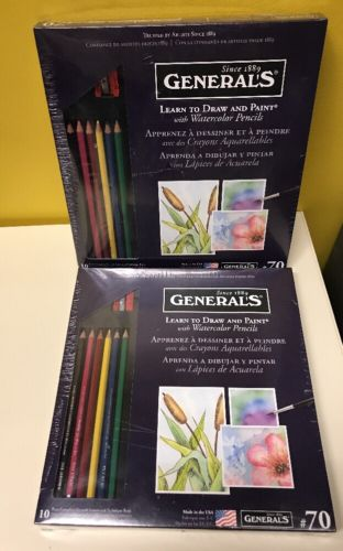 Two General Pencil Learn Watercolor Pencil Techniques Now Kit