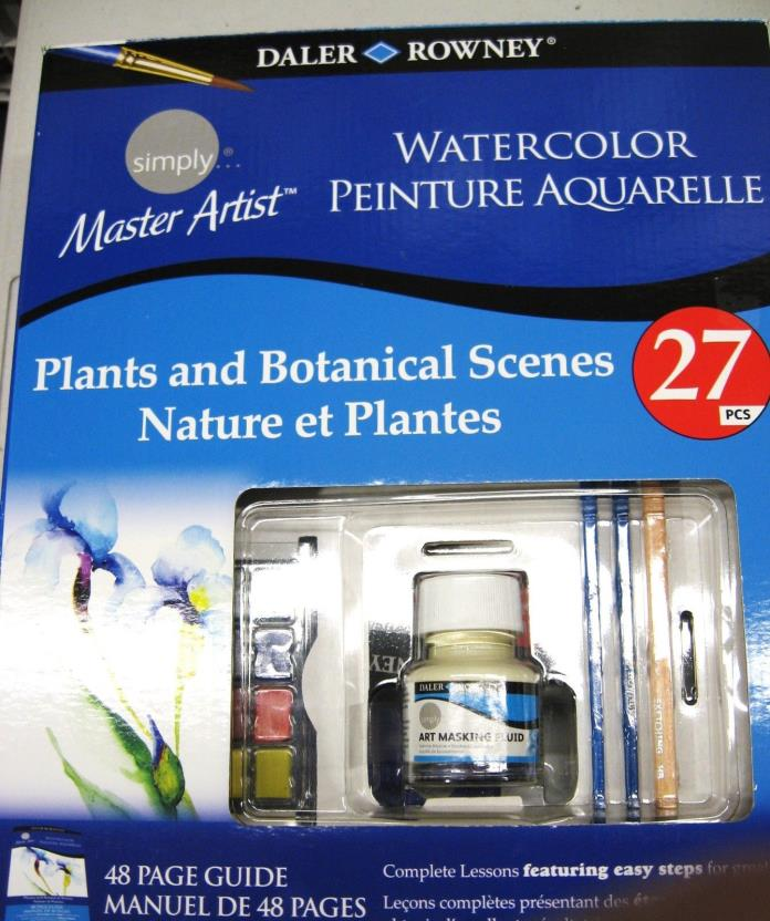 Daler Rowney Water Color Plants and Botanical Scenes Painting Art