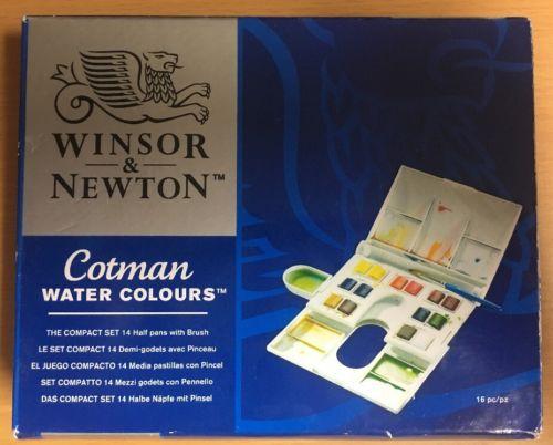Winsor & Newton Cotman Watercolor Watercolors THE COMPACT SET NEW