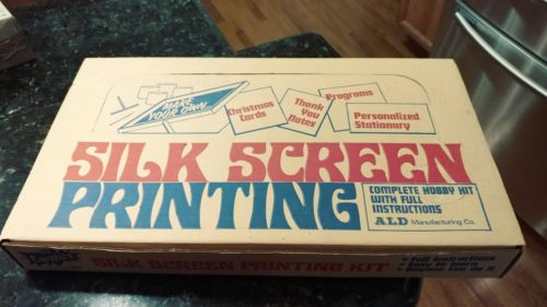 Vintage 1973 Silk Screen Printing Kit - HK1 by ALD Screen Printing Supply Co.