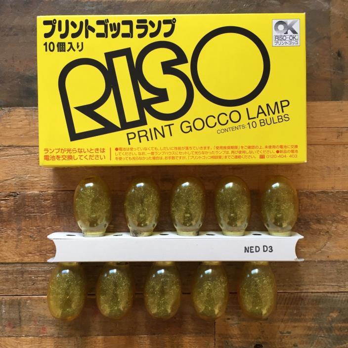 RISO PRINT GOCCO LAMP Flash Bulb Light Screen Printer Japan NOS | 1 Box=10 Bulbs