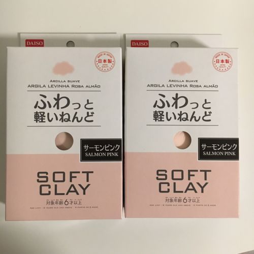 Daiso Japan SOFT CLAY SALMON PINK Arcilla Suave made in Japan F/S