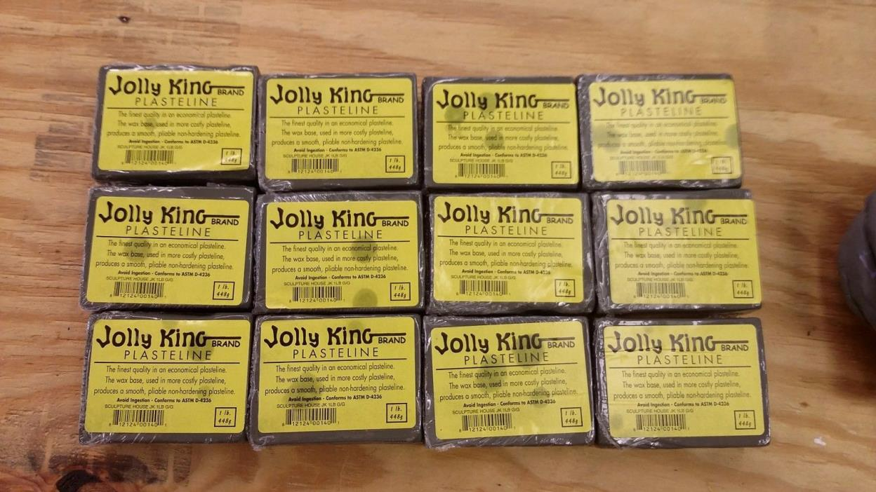 Jolly King Plasteline 12 lbs new and 3lbs opened/used but sealed
