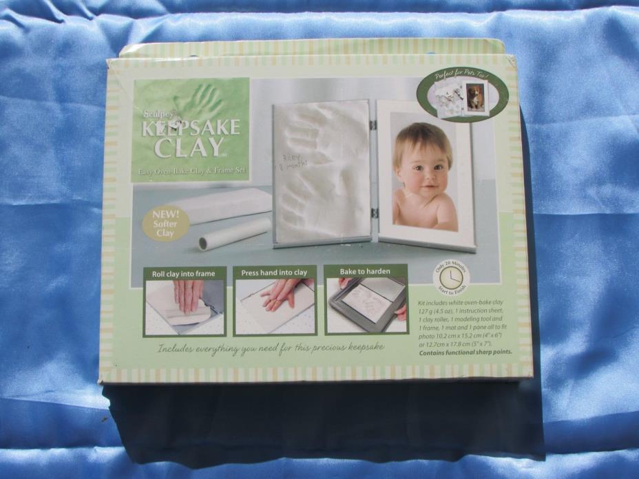 SCULPEY KEEPSAKE CLAY N0-MESS CLAY & FRAME SET - NEW BABY HANDS OR FEET OR PET