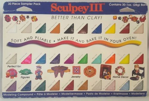 Sculpey III Oven Bake Clay Sampler 1oz 30/pkg Other Sculpting Supplies Molding