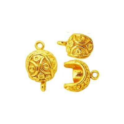 18K Gold Overlay Small Ball Shape Designer Magnetic Clasps CG-506