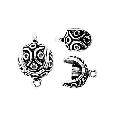 Silver Overlay Small Ball Shape Designer Magnetic Clasps CSF-506