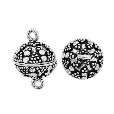 Silver Overlay Big Ball Shape Designer Magnetic Clasps CSF-502