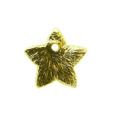 18K Gold Overlay Star Shape Chip Bead BG-373