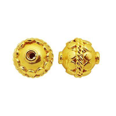 18K Gold Overlay Bali Bead BG-370
