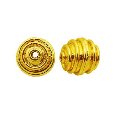 18K Gold Overlay Bali Bead BG-372