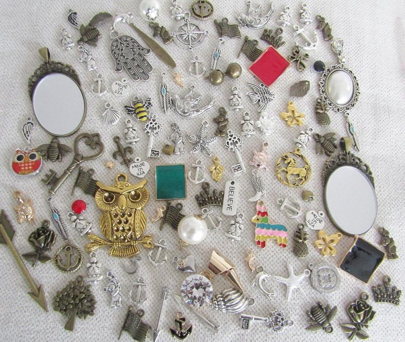 Lot 110 CHARMS Mixed Pineapple Crown Nautical DIY Craft Bracelet Jewelry Making