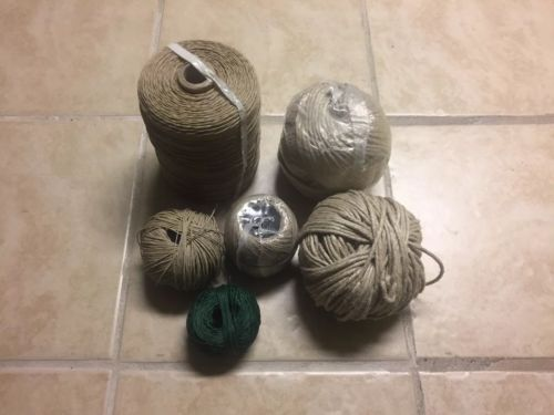 Solid Hemp Twine Cord Macrame String - Huge spool and heavy rolls