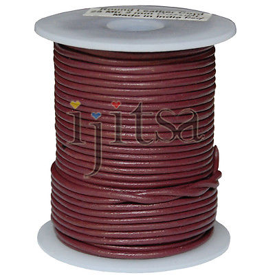 2mm coride red genuine leather cord 5 yards section, (spool is not included)