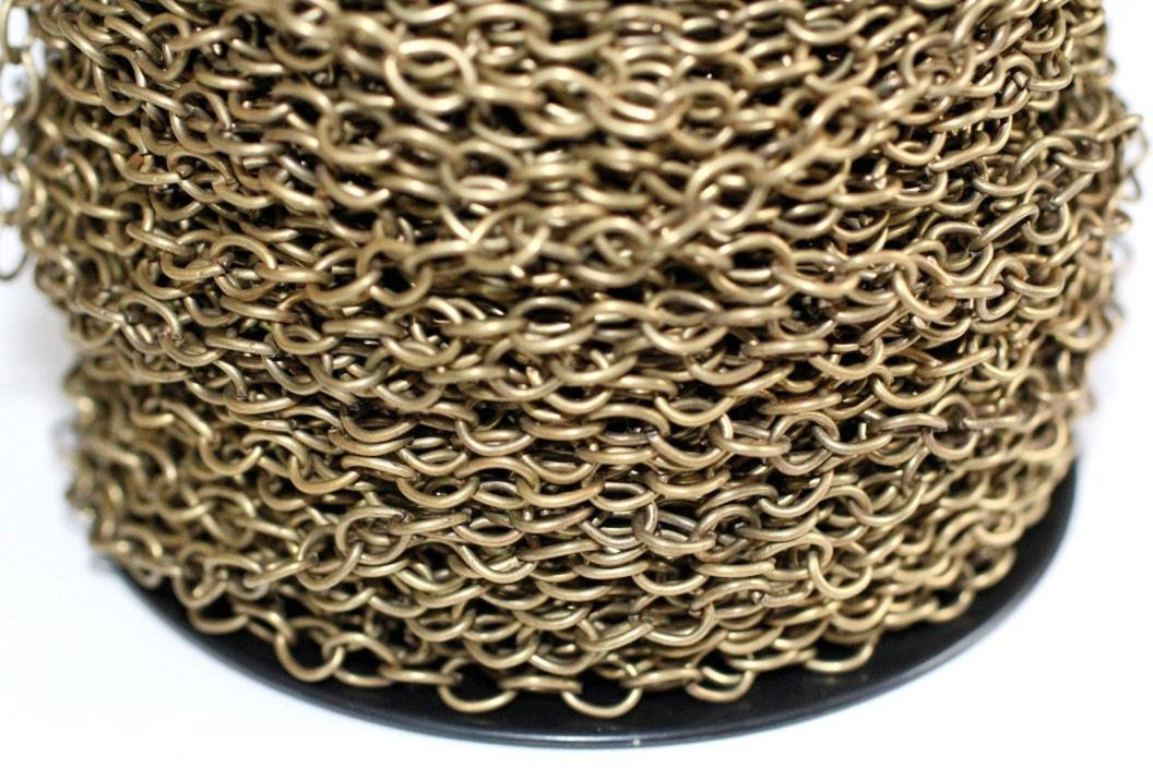 15ft Antique Bronze 7x5mm Cable Chain 1-3 day Ship