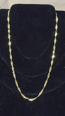 16 Inch 18k Gold Plated Chain Necklace/Chain
