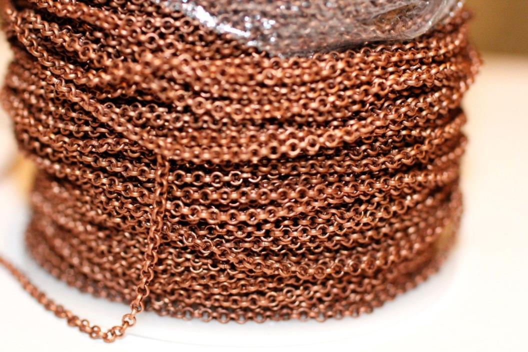42ft 2mm Red Copper Rolo Chain 1-3 day Ship