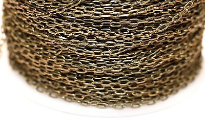 15ft 3x1.5m Brass Antique Bronze Cable Chain links-soldered 1-3 days Ship