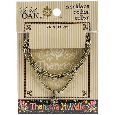 Thaneeya(R) LLC Metal Ball Chain Necklace 1/Pkg Oval/Round 845227044372