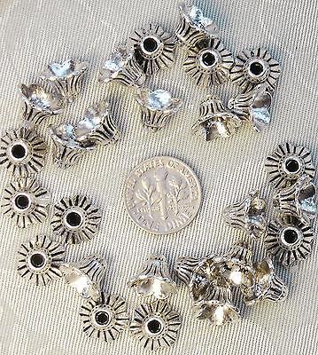 26 Large Tibet Silver Beadcaps Beads 9mm