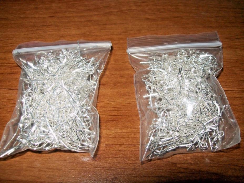 Lot Silver Tone Earring Hooks - Jewelry Making - 2.2 oz Total