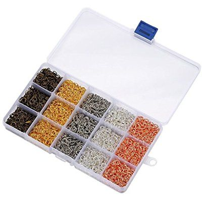 Housweety 5000Pcs Box Colors Jump Rings Unsoldered 6Mm Diameter Jewelry