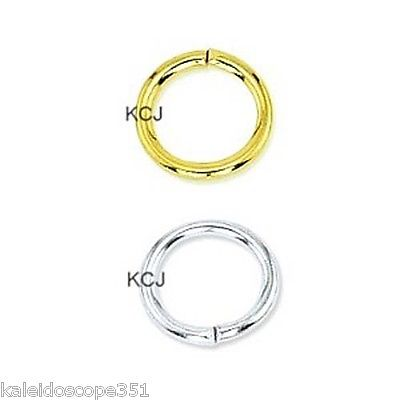 BEADALON GOLD PLATED JUMP RINGS 100 PCS 4MM OPEN JUMP RING FC54