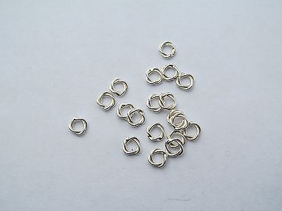 FINDINGS - Jumprings Sterling silver double soldered 6mm 10 pieces F71