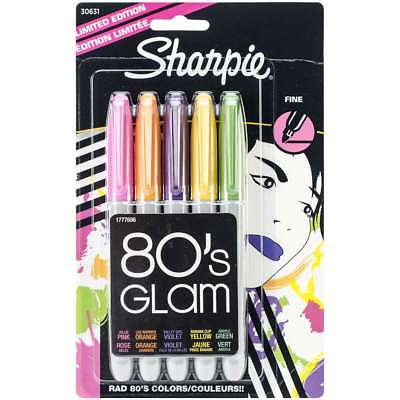 Sharpie Fine Point Permanent Markers 5/Pkg 80's Glam 071641306318