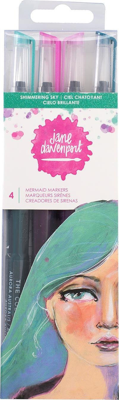 Jane Davenport MERMAID MARKERS, Celestial Sky ~ 4 Color Set