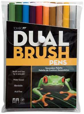 Tombow Dual Brush Markers 10/Pkg Secondary 085014561686