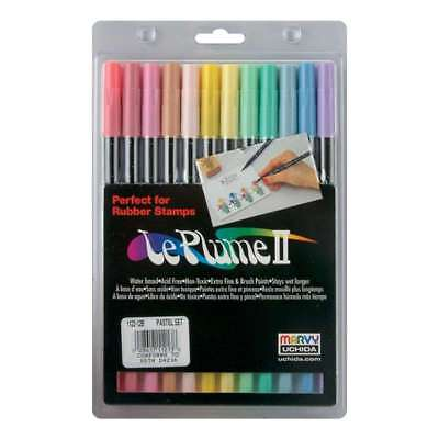Le Plume II Double-Ended Markers 12/Pkg Pastels 028617112138