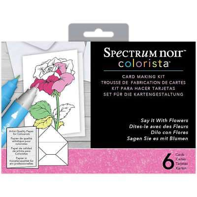 Spectrum Noir Colorista Marker Card Making Kit W/ Glitter Say It  709650804302
