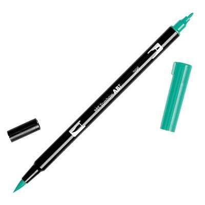 Tombow Dual Brush Marker Open Stock 296 Green 085014565349