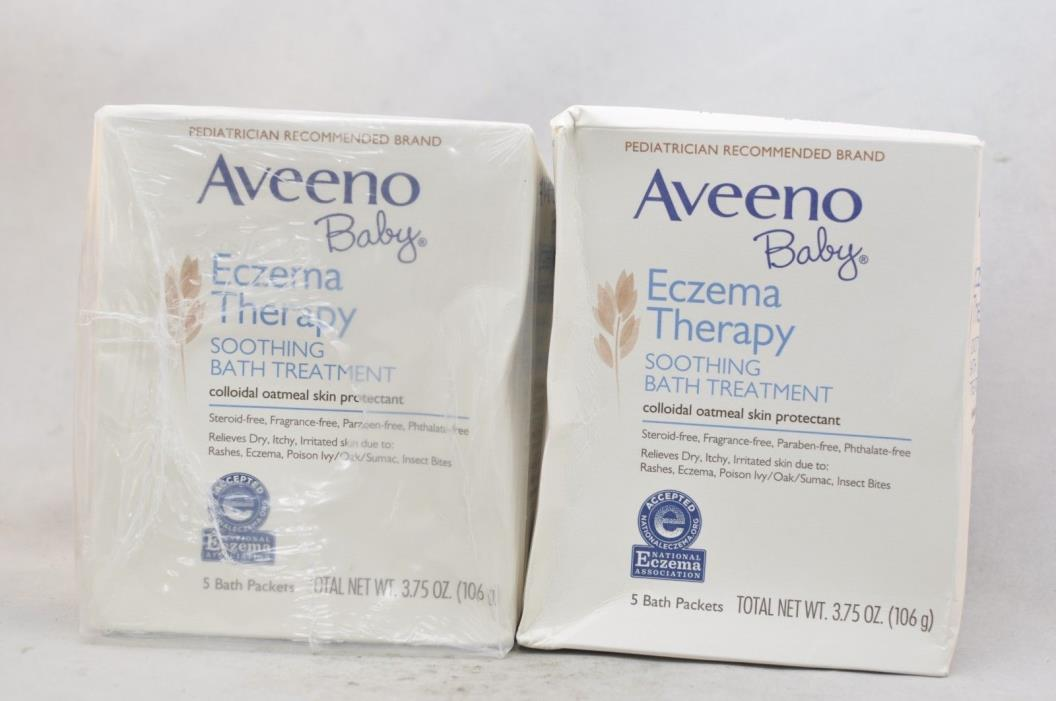 Aveeno Baby Eczema Therapy Soothing Bath Treatment 2 Packs 5 Packets *