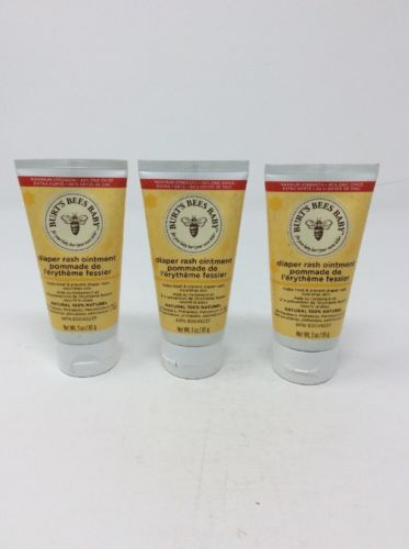 Lot of 3 Burt's Baby Bee Diaper Rash Ointment 3 oz Maximum Strength