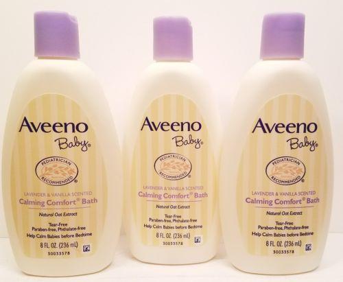 3 Aveeno Baby Calming Comfort Bath,  Lavender & Vanilla - 8 oz ea. Free Shipping