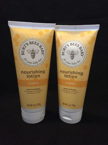 2x Burt's Bees Baby Bee Nourishing Lotion Fragrance-Free 6 OZ Each New/Sealed