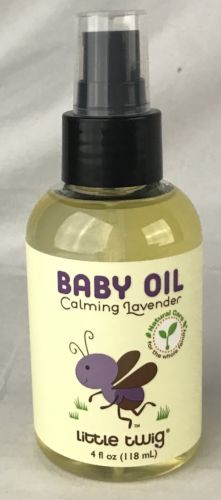 Little Twig Baby Oil Calming Lavender 4 fl oz Natural Care Exp 9/19