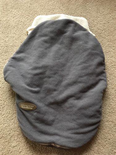 JJ Cole Original Bundle me Gray Sherpa Fleece Infant Baby Car Seat Cover