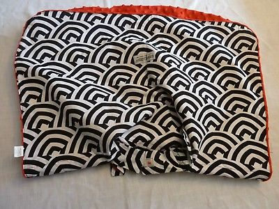 Infant Car Seat Canopy black/white w/red on reverse. Excellent condition