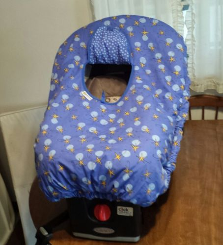Gold Bug Blue Infant Car Seat Carrier Cover Reversible