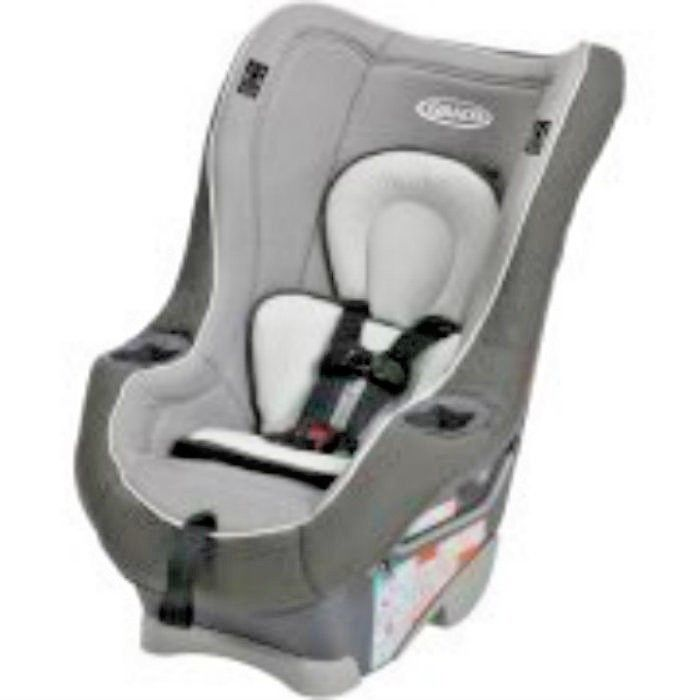 Convertible car seat Gray Rear Facing up to 40 lps Forward facing up to 65 lps