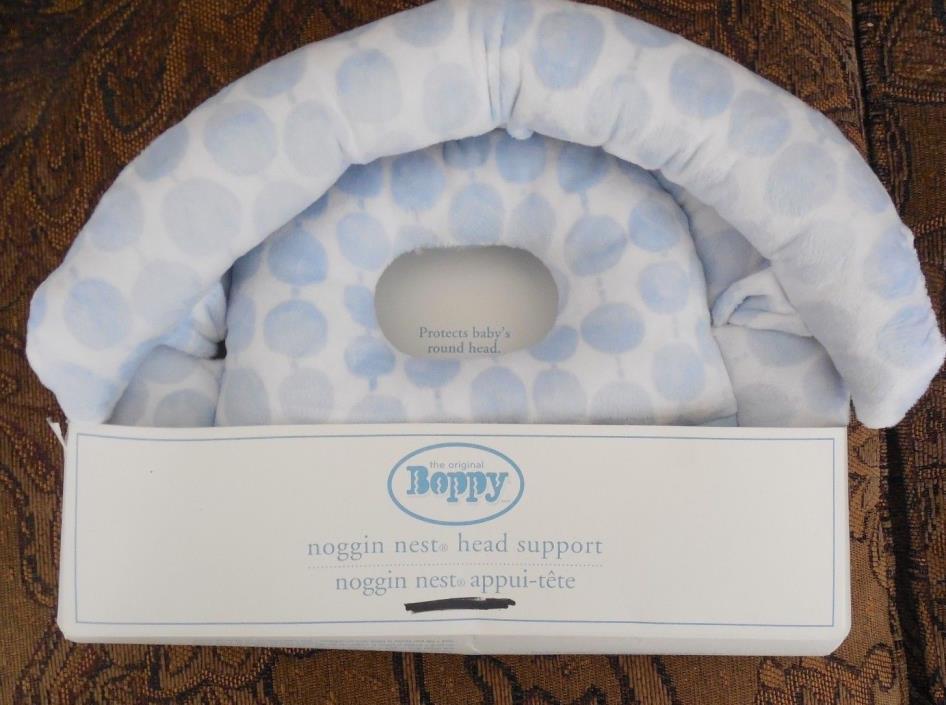 Pottery Barn Nursery Bobby Noggin Nest Head Support Blue Dot NIB