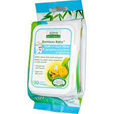 Aleva Naturals Bamboo Baby Tooth 'n' Gum Wipes -- 30 Wipes