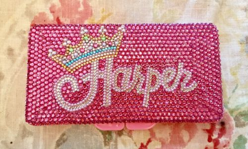 Rhinestone Baby Wipe Case Personalized