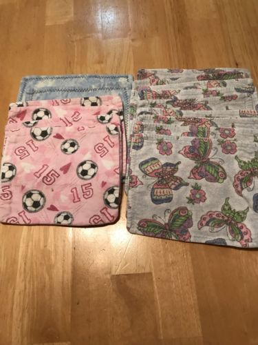 16 Cloth, Diaper Wipes, Reusable Flannel
