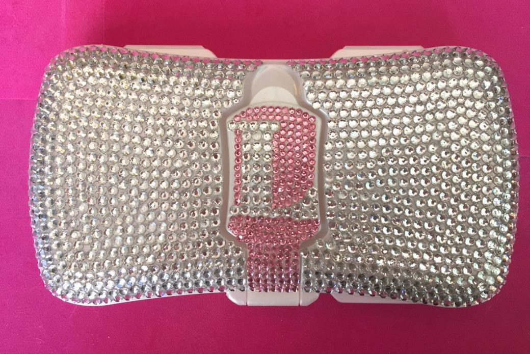 Rhinestone Personalized Baby Wipe Case