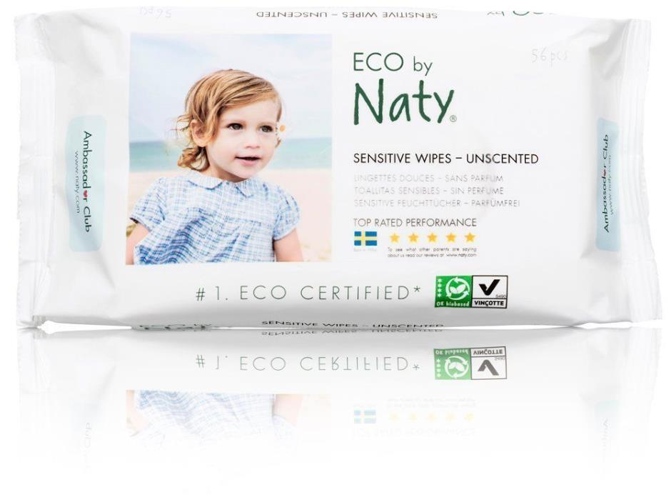 Naty by Nature Babycare Eco Baby Wipes Unscented 12 Counts of 56 672 wipes